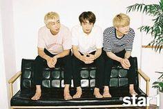Namjoon , Jeongkook & Suga  BTS @ Star 1' Magazine |  August 2016 Issue |