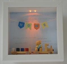 Quadro maternidade ou decorativo. Iluminação com LED. Materiais importados. Mede 24x24.