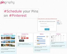 Check out Pingraphy to schedule your pins on Pinterest - click through!