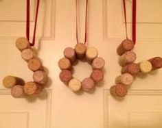 cork christmas decorations -