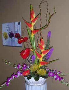 Simple but Bold Tropical Floral Arrangement