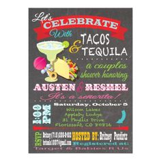 tacos and tequilla couples baby shower invitations  party ideas, Baby shower invitation