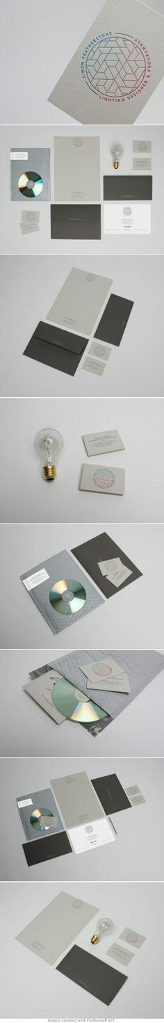 Corporate design business card logo colors graphic minimal stamp passport recycled paper bubble envelop lamp letterpress branding