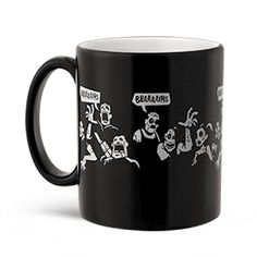 Some say the world will end in zombies, some say in robots... ThinkGeek :: Zombies to Robots Heat Change Mug