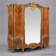 JOSEPH-EMMANUEL ZWIENER (c.1848-1895)   An Exceptional Gilt-Bronze Mounted Kingwood and Marquetry Armoire