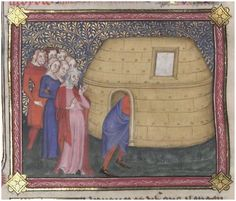 Doesn't look too much like a boat, but it is. WLB Bible historiale - Cod.bibl.fol.6 13r http://digital.wlb-stuttgart.de/digitale-sammlungen/seitenansicht/?no_cache=1_dlf%5Bid%5D=1386_dlf%5Bpage%5D=1
