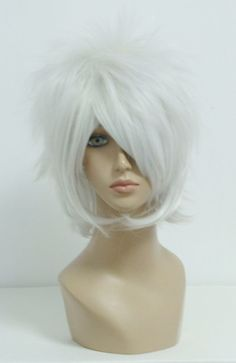 Classical Anime Silvery White Fashion Cosplay Wig