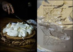 Moccacino Pavlova from Cleopatra Mountain Farmhouse  #dessertrecipes, Midlands Meander, KZN, South Africa www.midlandsmeander.co.za Artisan Food, Country Cooking, Pavlova, Cleopatra, Tray Bakes, South Africa, Dessert Recipes, Mountain, Kitchens