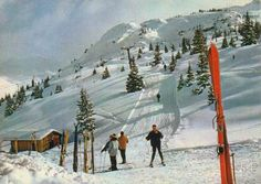 Stations d'hiver au début des années 70: les pistes