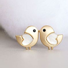 Gold Baby Chick Stud Earrings, Tiny Bird Ear Post, Adorable Whimsical Jewelry on Luulla Baby Jewelry, Cute Jewelry, Jewelry Box, Jewelry Accessories, Jewelry Design, Wedding Jewelry, Gold Jewelry, Tiny Stud Earrings, Cute Earrings