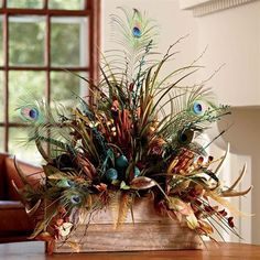 Feather & Antler Centerpiece | King Ranch