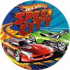"""Amscan Hot Wheels Speed City 9"""" Plates, 8-Count"""