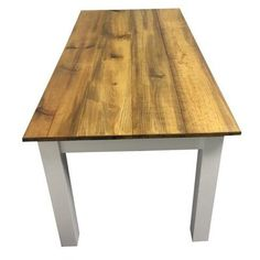 Ezekiel and Stearns Solid Wood Dining Table Base Finish: White Counter Height Dining Table, Solid Wood Dining Table, Extendable Dining Table, Dining Table In Kitchen, Wood Table, Table And Chairs, Table Legs, Dining Room, White Farmhouse Table