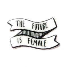 "Feminist ""The Future Is Female"" Enamel Pin ($12) ❤ liked on Polyvore featuring jewelry, brooches, pin tie tack, enamel jewelry, pin jewelry, polish jewelry and black and white jewelry"