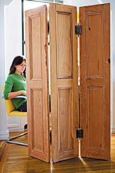Old Hinges & Shutters Make a Folding Door or Screen. Photo: Kristine Larsen | thisoldhouse.com | from 23 of Our Best Salvage-Style Projects