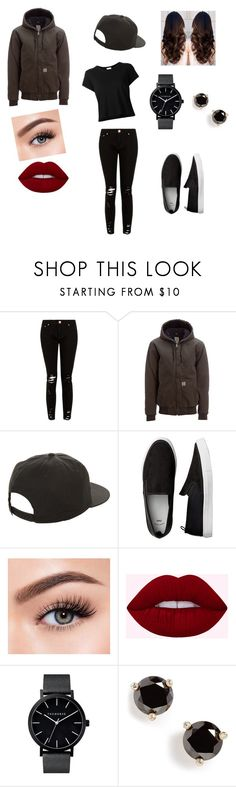 """""""Still cold"""" by misshathor on Polyvore featuring Carhartt, NIKE, Morphe, Kate Spade and RE/DONE"""