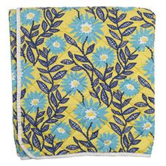 Utility Canvas...quilted throw - yellow daisy vine