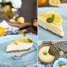 Fitness citrónový cheesecake - zdravý recept Bajola Healthy Detox, Sweet Recipes, Mango, Cheesecake, Goodies, Pudding, Fitness, Desserts, Healthy Cleanse