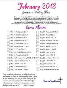 February 2018 scripture writing plans! I'm so pleased with how eager so many of you are to get the next month's plan :) God is moving and draw…