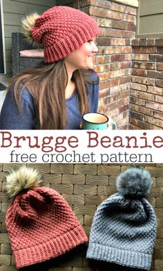 Bonnet Crochet, Crochet Beanie Pattern, Beanie Pattern Free, Slouch Beanie Crochet Pattern, Crochet Beanie Hat Free Pattern, Tunisian Crochet Patterns, Baby Hat Patterns, Mittens Pattern, Clothes Patterns