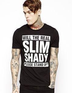 ASOS T-Shirt With Slim Shady Print