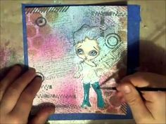 She Dreams A Little Song Mixed Media Painting by Lizzy Love - YouTube I need to try this tracing paper painting.