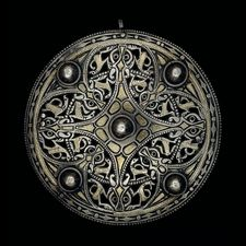 the Strickland brooch, 9th century: one of the most famous Anglo-Saxon archaeological pieces; look closely, and you'll find large and small animals; incredible piece!