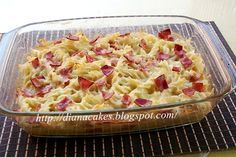 diana's cakes love: Paste cu sunca la cuptor Romanian Food, Romanian Recipes, Potato Salad, Macaroni And Cheese, Diana, Bacon, Cakes, Ethnic Recipes, Mac And Cheese