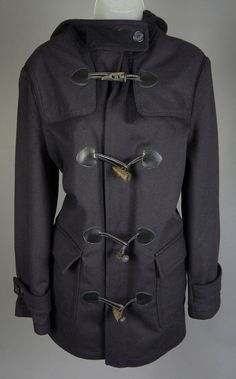 Womens Barbour Navy Blue Patricia Short Hooded Duffle Coat Jacket Size 10 US #Barbour #BasicCoat