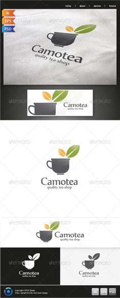 Tea Cup Logo  #GraphicRiver         Tea Cup Logo is 100% editable and resizeable vectors!  suitable for tea maker, caffe, tea shop, community or other related.  Well organized file, All colors and text can be modified, Font: free font, read readme.pdf  Colour: CMYK Files: .ai / .eps version 10 / .psd  Size: Resizeable  Contact me if you need any help and would be appreciate if you may rate this item..   Cheers!      Created: 20November13 GraphicsFilesIncluded: PhotoshopPSD #VectorEPS…