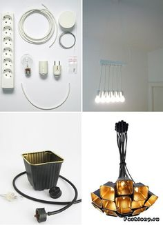 Светильники, торшеры, люстры и бра сделанные из подручных материалов / как сделать торшер своими руками