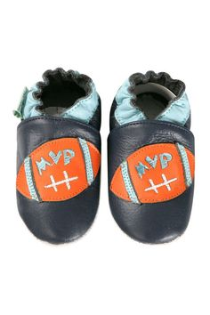 Football Baby Shoes In Navy