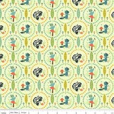 Sheri Berry Designs - Woodland Tails - Owl in Green