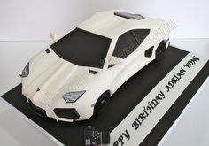Celebrate with Cake!: Sculpted Lamborghini Aventador Cake