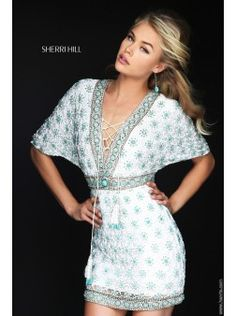 Sherri Hill50381 | Find this 2016  short prom dress at www.henris.com