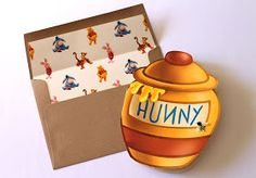 Embellished Paperie: Winnie the Pooh Hunny Jar Invites