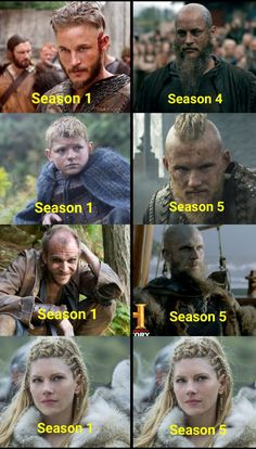 How the characters ages in Vikings.