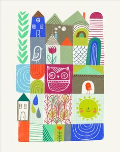 Good Morning by Sarah Walsh by Tigersheepfriends on Etsy https://www.etsy.com/listing/127912314/good-morning-by-sarah-walsh