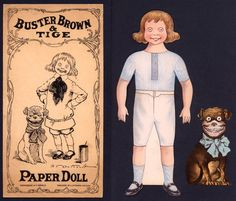 Buster Brown  Paper Doll - OH WOW, I remember this