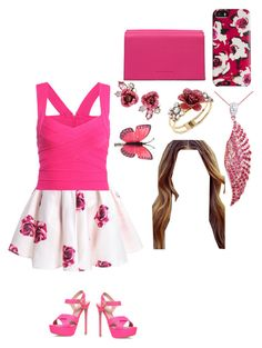 """""""Loving Spring"""" by cats225 ❤ liked on Polyvore featuring Kurt Geiger, COSTUME NATIONAL, Kate Spade, Betsey Johnson, Beverly Hills Charm and Accessorize"""