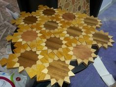 Wooden floor panels I've designed with www.nomadinception.com Islamic geometric design