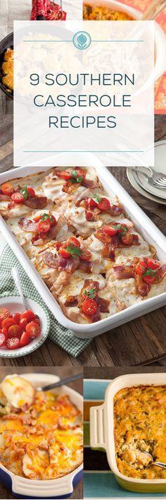 12 Southern Casserole Recipes recipe for a crowd 12 Southern Casserole Recipes - Paula Deen Paleo Casserole Recipes, Casserole Dishes, Crockpot Recipes, Chicken Recipes, Cooking Recipes, Easy Dinner Recipes, Great Recipes, Favorite Recipes, Yummy Recipes