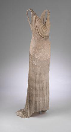 Evening dress.House of Worth | French | 1931 | silk, glass, metal | Metropolitan Museum of Art | Accesión #: 2013.625