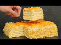 Este doar un BOMB! Delicios tort de casă! Pentru toți iubitorii de torturi Napoleon și Karpatka! - YouTube Kinds Of Desserts, Yams, Spanakopita, Homemade Cakes, Macarons, Waffles, Pineapple, Deserts, Dessert Recipes