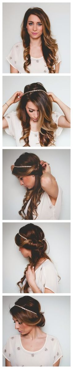 Quick and Easy, Romantic Hair Wrap Tutorial - Festival Hair