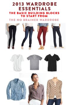 "2013 Wardrobe Essentials from Hayley Morgan. Love her book ""The No-Brainer Wardrobe"""