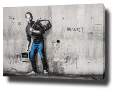 BANKSY STEVE JOBS CANVAS PRINT POSTER PHOTO WALL ART ARTWORK MOTIVATION SYRIA