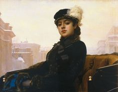 Portrait of a woman, 1883 Ivan Kramskoy