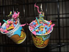 Hanging Paper Foraging Cup Toy for Birds and Small Animals