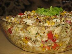 Słonecznikowa sałatka do grilla Tasty, Yummy Food, Polish Recipes, Polish Food, Fried Rice, Salad Recipes, Grilling, Food And Drink, Low Carb